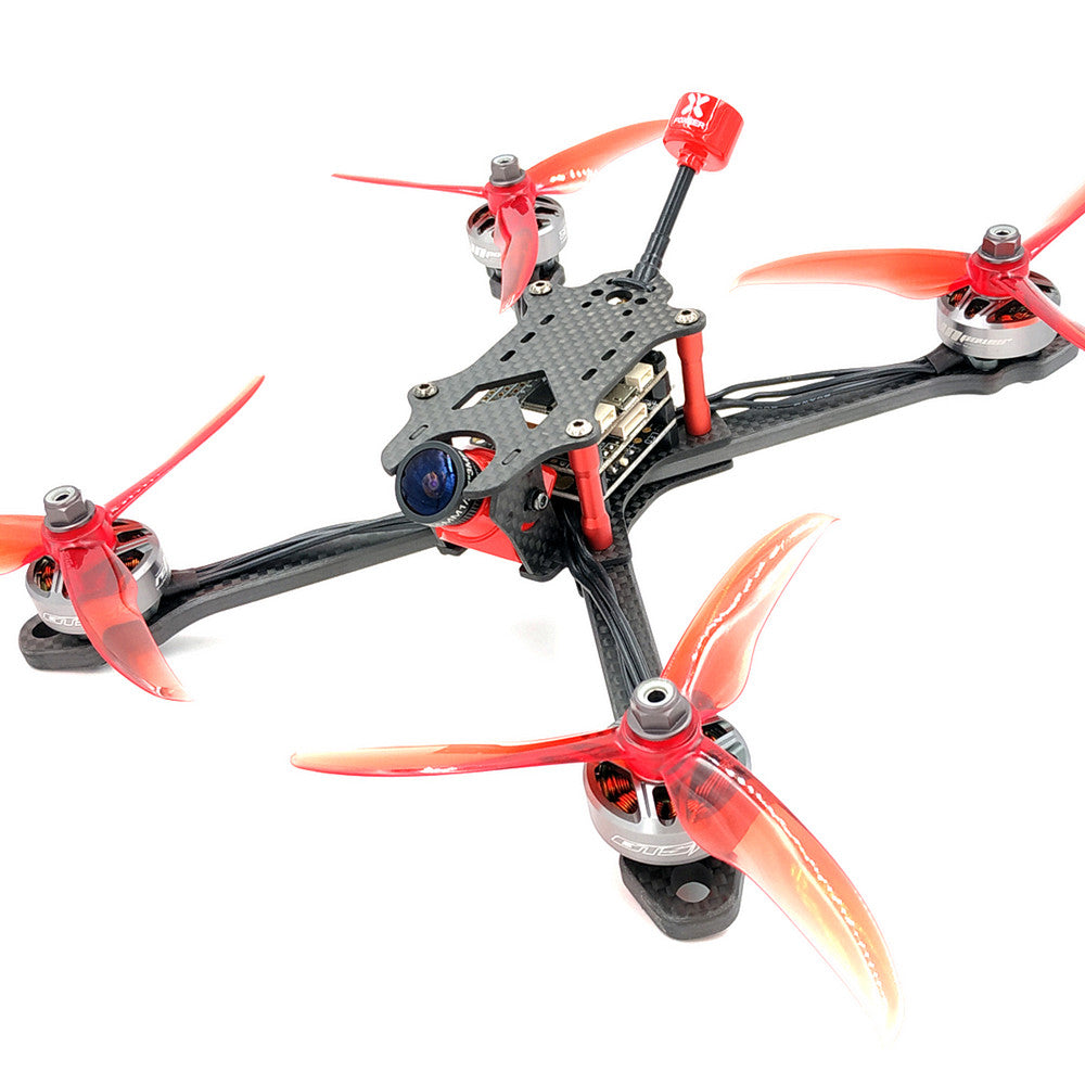 X Frame Kit for FPV Freestyle RC Drone AlfaRC Raptor 218mm 6mm Arm Carbon Fiber 5 Inch Stretch
