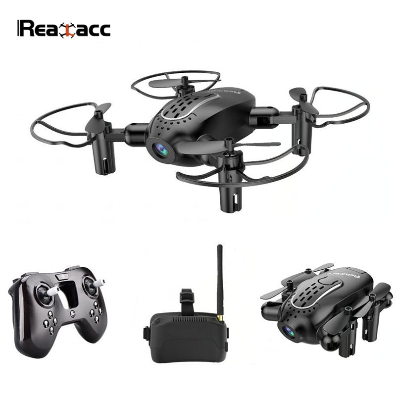 Realacc R11 Mini FPV with 5.8G Foldable 720P HD Camera 6-axis Headless Mode 3 Inch Goggles Micro RC Drone Quadcopter