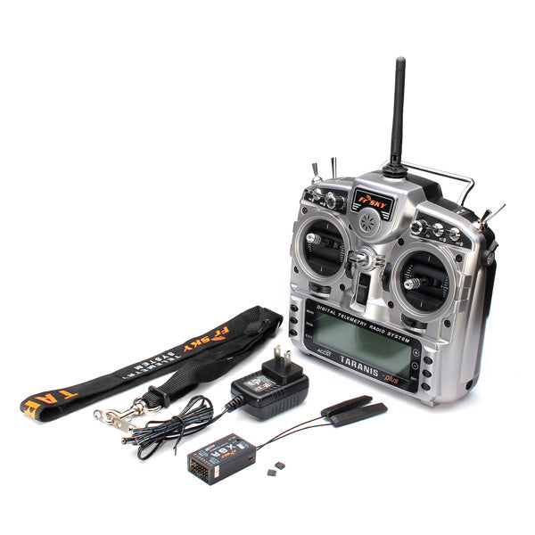 Original FrSky 2.4G ACCST Taranis X9D Plus Transmitter With X8R Receiver for RC Drone FPV Racing