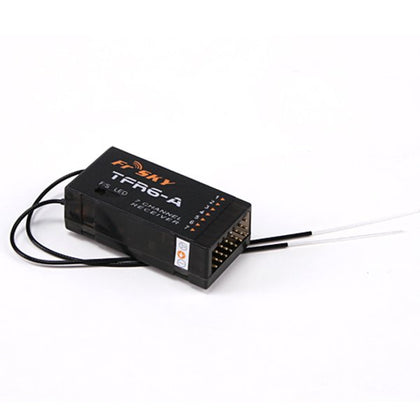 FrSky 2.4G 7CH TFR6-A Receiver Futaba FASST Compatible (Horizontal  Connectors)