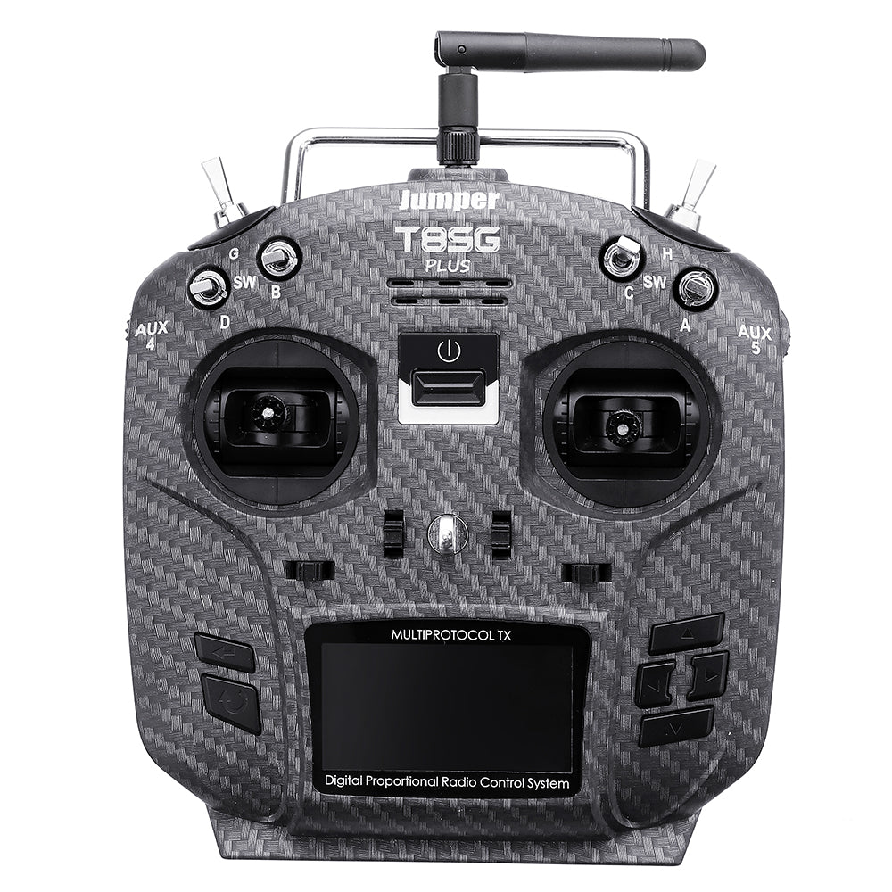 "Transmitter Carbon Fiber for Flysky Frsky Jumper T8SG V2.0 Plus Hall Gimbal Multi-protocol Advanced 2.7"" OLED"