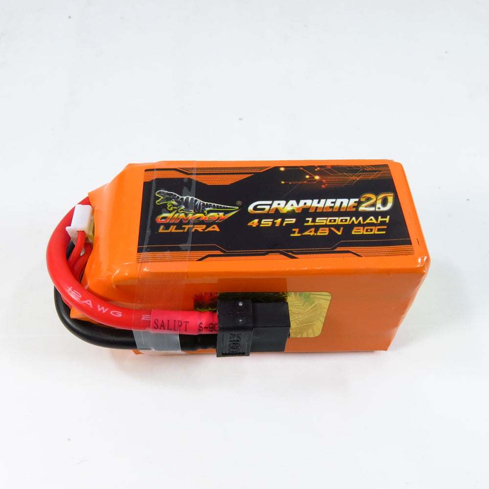 Giant Power DINOGY ULTRA GRAPHENE 2.0 14.8V 1500mAh 80C 4S Lipo Battery XT60 Plug For RC FPV Racing