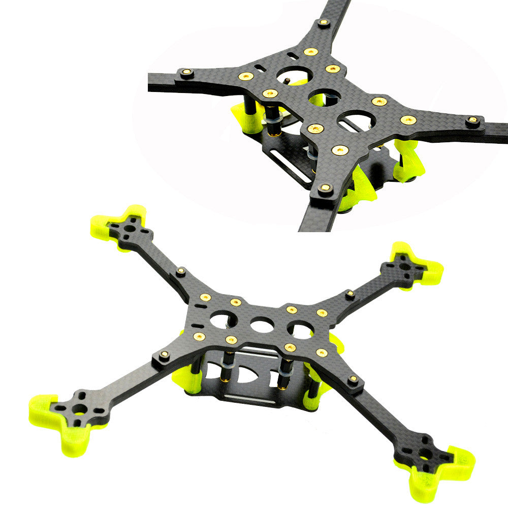 LHI 218mm Mantis Carbon Fiber Frame Kit With 5mm Thickness Arm for RC Drone FPV Racing