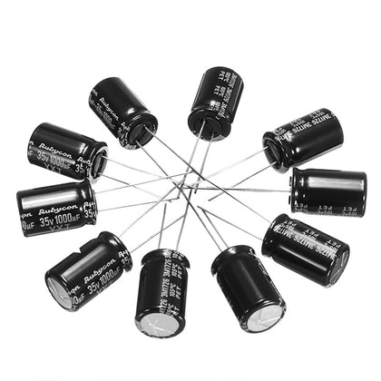 10 PCS 35V 1000UF Multirotor FM Series Capacitors 12.5x25mm for Bushless ESC - Drone 4 Racing Drone 4 Racing Default Title Drone For Racing