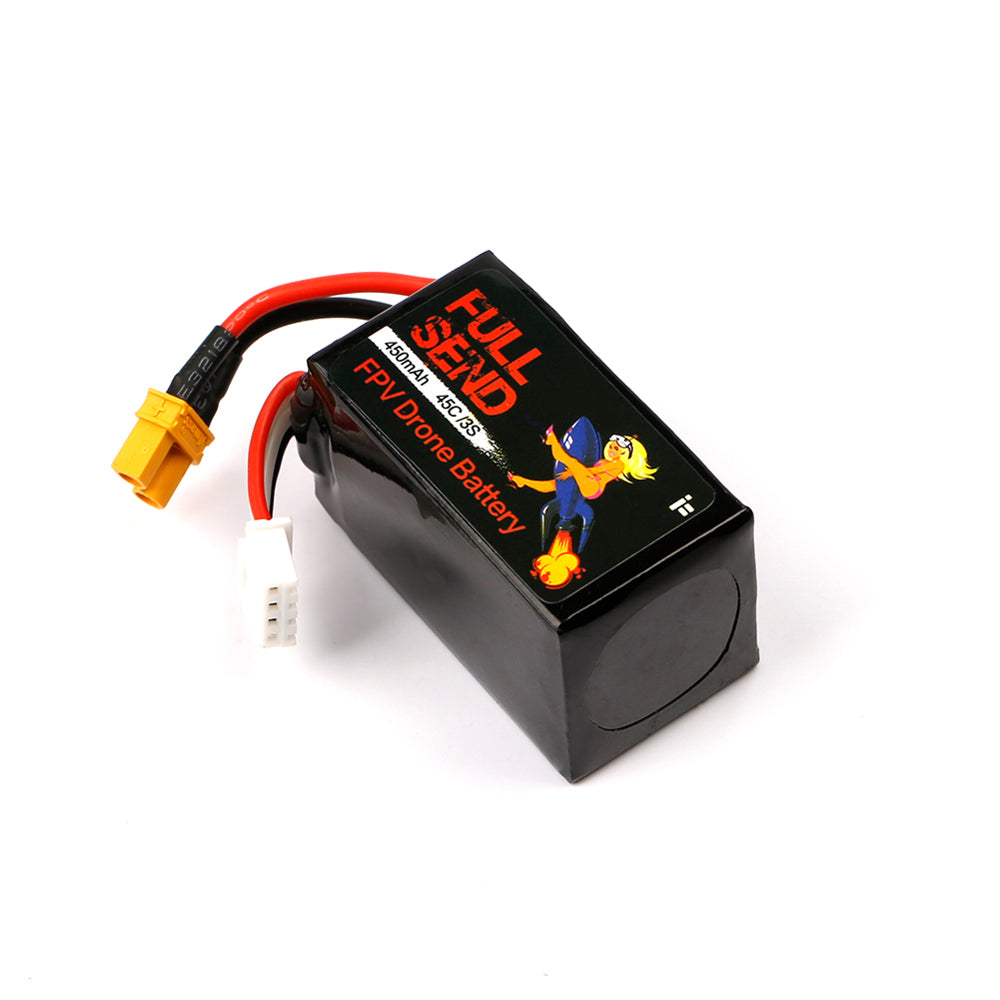 Lipo Battery 450mAh 11.1V 3S 45C XT30 Plug for RC FPV Racing Drone iFlight FullSend