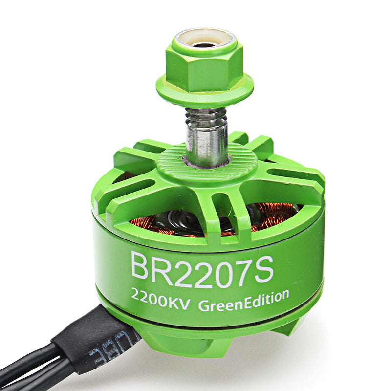 4X Racerstar 2207 BR2207S Green Edition 2200KV 3-6S Brushless Motor For RC Drone FPV Racing Frame