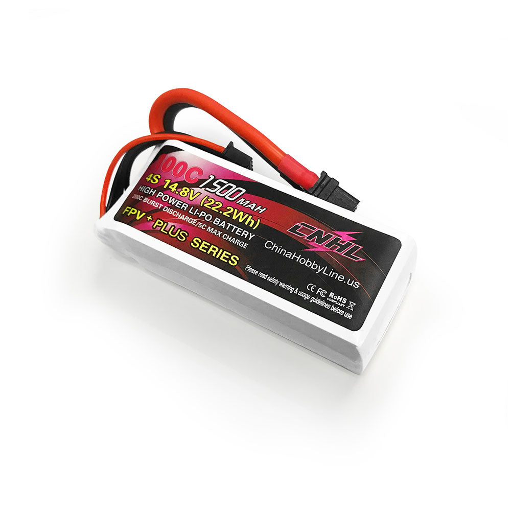 CNHL G+PLUS 14.8V 1500mAh 4S 100C Lipo Battery XT60U Plug for RC Drone FPV Racing