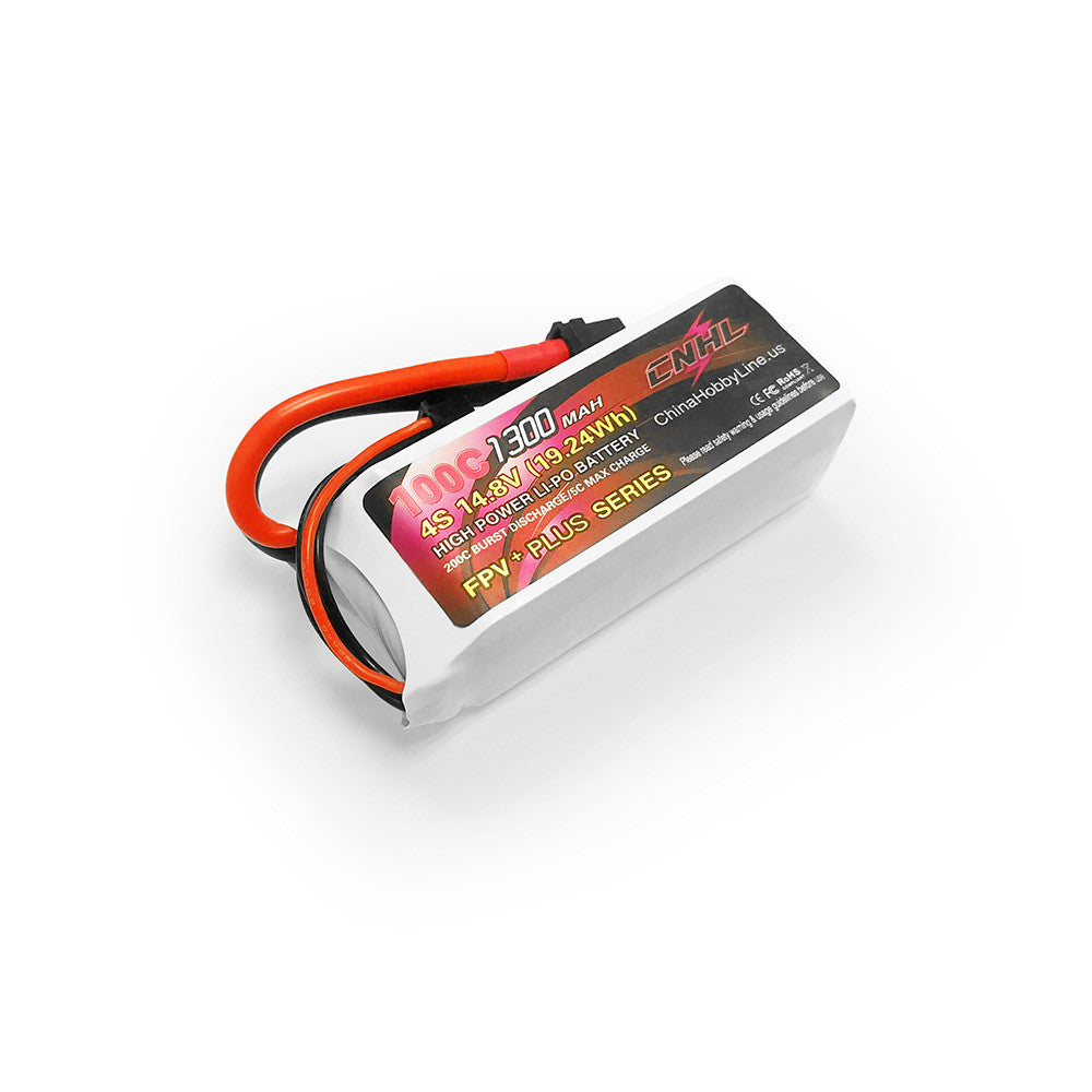 CNHL G+PLUS 14.8V 1300mAh 4S 100C Lipo Battery XT60 Plug for RC Drone FPV Racing