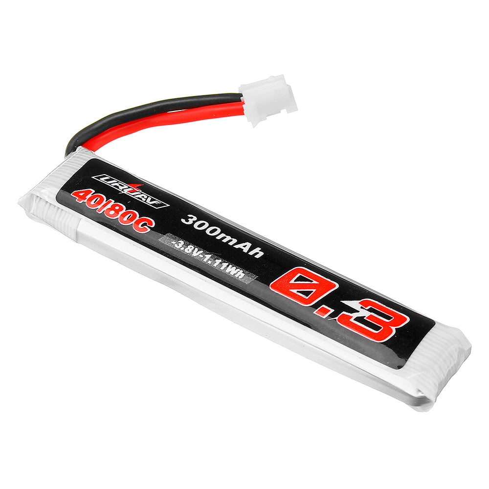 5Pcs URUAV 3.8V 300mAh 40/80C 1S HV 4.35V PH2.0 Lipo Battery for Eachine TRASHCAN Snapper6 7 Mobula7