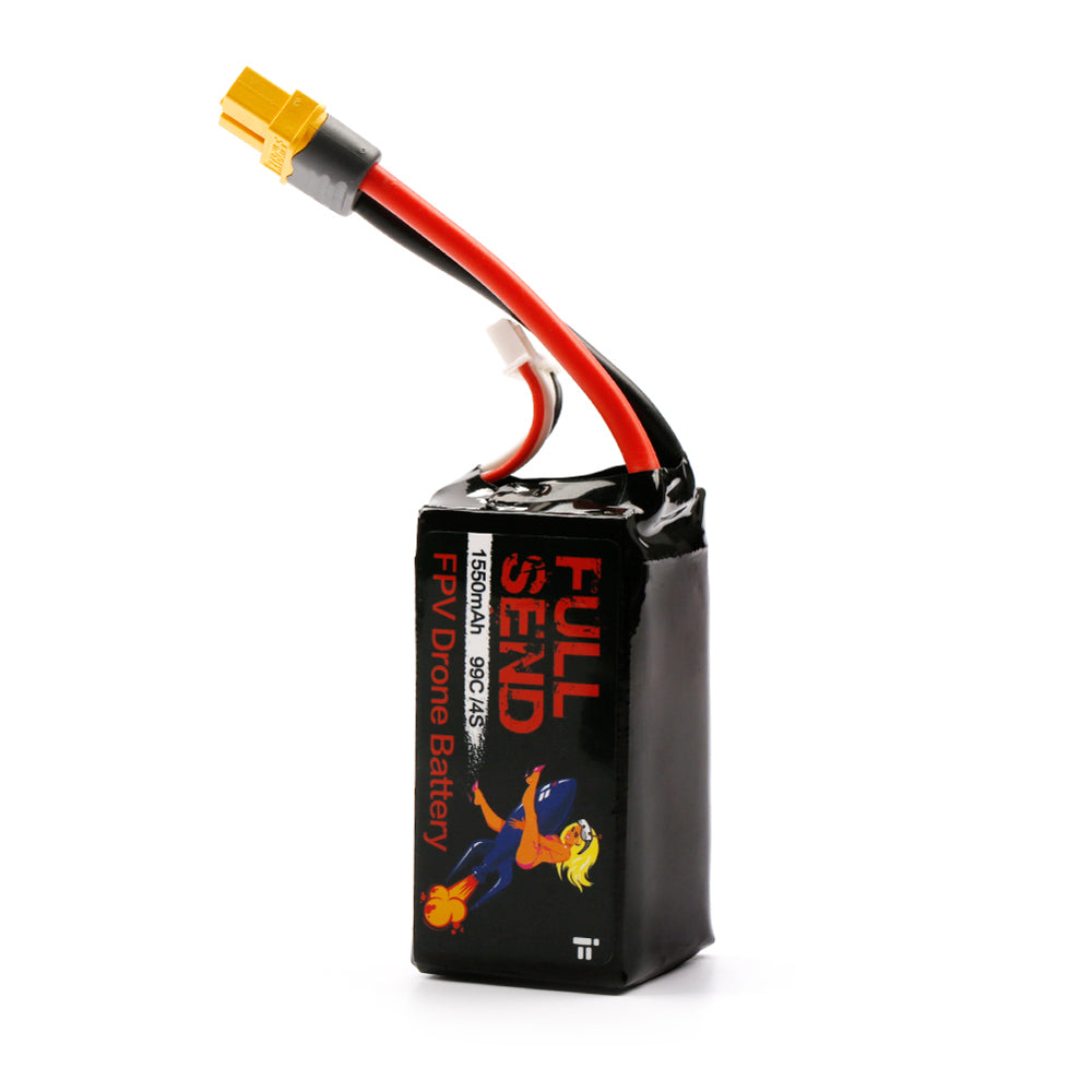 Lipo Battery 1550mAh 14.8V 4S 99C XT60 Plug for RC FPV Racing Drone iFlight FullSend