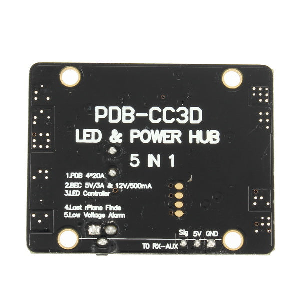 5 in 1 V3 PDB LED Power Hub 5V 12V Dual BEC Low Voltage Buzzer Tracker For FPV Racer