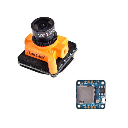 Runcam Micro Swift 3 + Mini DVR Remote Control 4:3 600TVL CCD Mini FPV Camera 2.1mm/2.3mm M8 Lens PAL/NTSC OSD Configuration - Drone 4 Racing Drone 4 Racing Drone For Racing