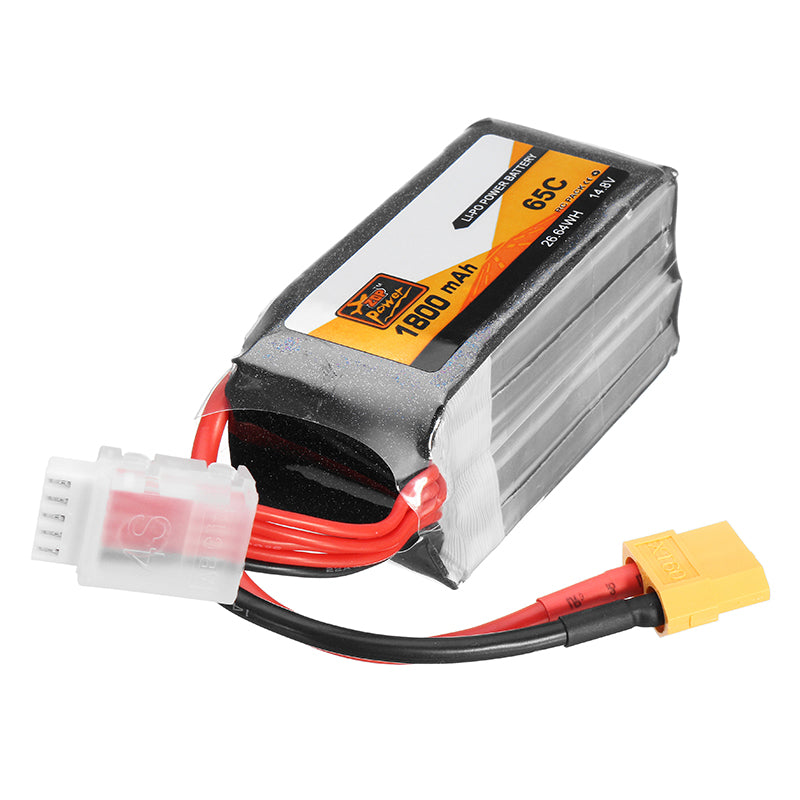 ZOP Power 14.8V 1800mAh 65C 4S Lipo Battery XT60 Plug