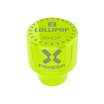 2pcs Foxeer Lollipop 2 Stubby 5.8GHz 2.5Dbi RHCP/LHCP FPV Antenna SMA for RC Drone-Fluorescent Green
