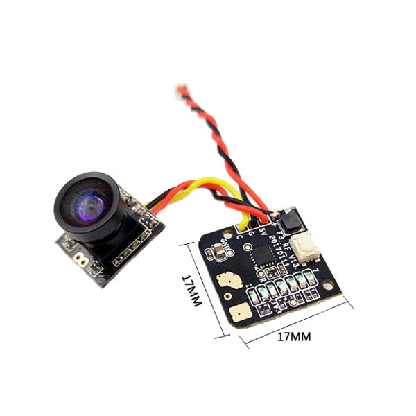 Turbowing 5.8G 48CH 25mw 700TVL Wide Angle FPV Transmitter Camera NTSC/PAL Combo for FPV Multicopter Drone