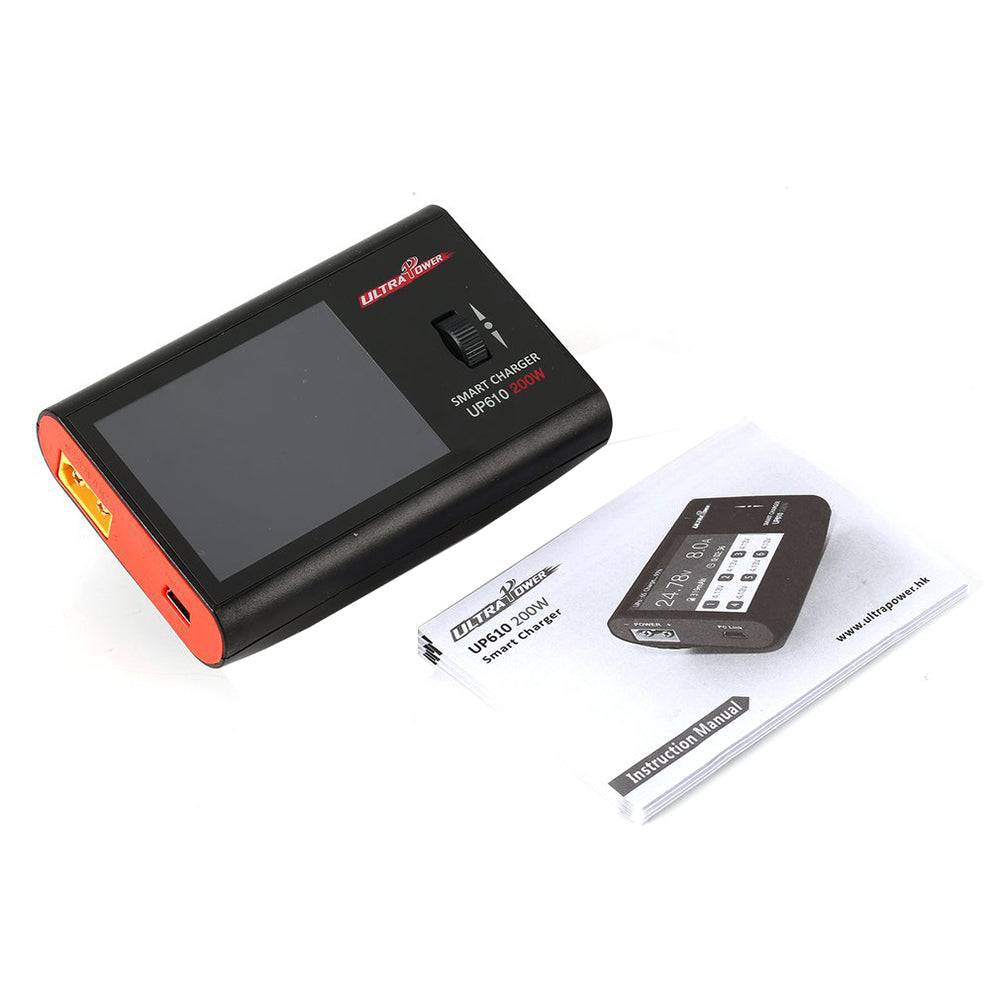 Ultra Power UP610 DC 200W 10A Pocket Smart Charger for 2-6S Lipo Battery