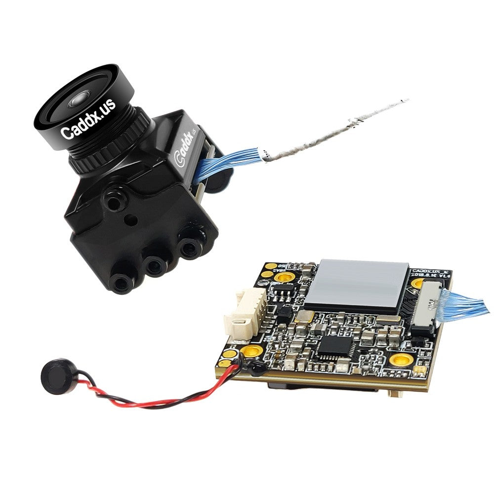 Caddx Turtle V2 1080p 60fps FOV 155 Degree Super WDR Mini HD FPV Camera OSD Mic for RC Drone