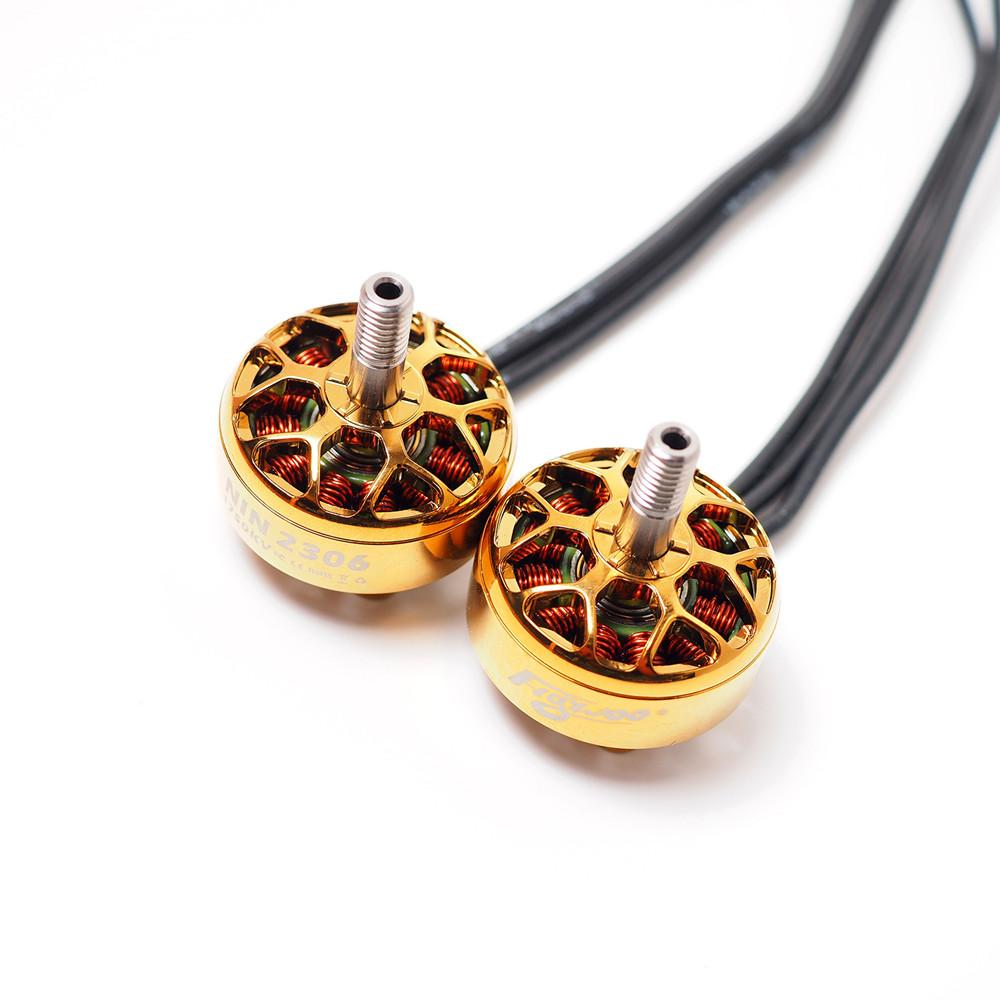 FLYWOO NIN N2306 2306 2-6S FPV 1750/2450/2750KV Brushless Motor Gold Silver for RC Drone FPV Racing