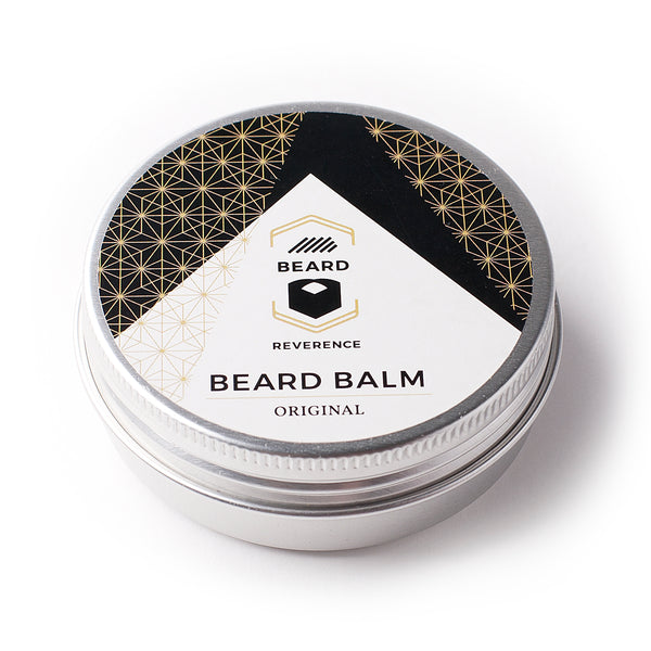 Beard Reverence beard balm on a white background.
