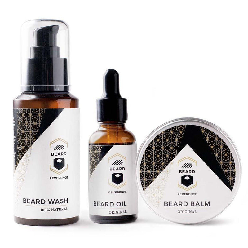Beard Wash, Beard Oil, and Beard Balm by Beard Reverence.