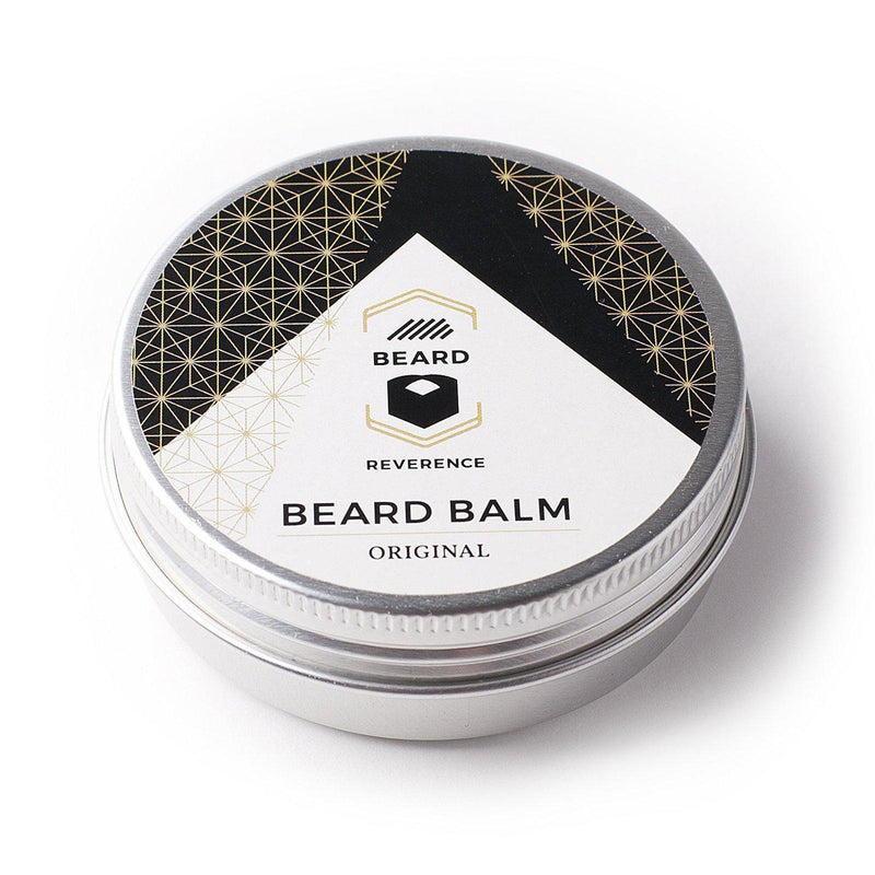 Original beard balm in a tin container by Beard Reverence