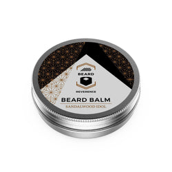 Beard Reverence Sandalwood Idol Beard Balm face up.
