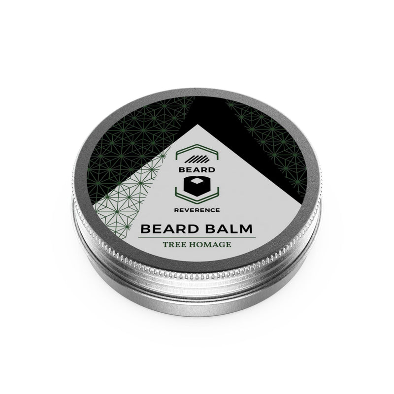 Beard Reverence Tree Homage Beard Balm face up.