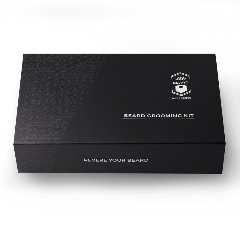 Black Gift Box by Beard Reverence. Sleek design with magnetic closure.