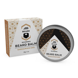 Beard Reverence Sandalwood Idol Beard Balm and its box.
