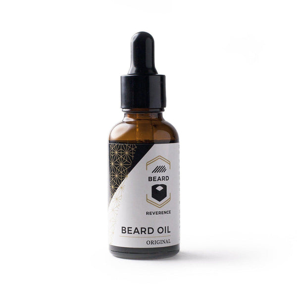 Original beard oil in a dropper bottle by Beard Reverence