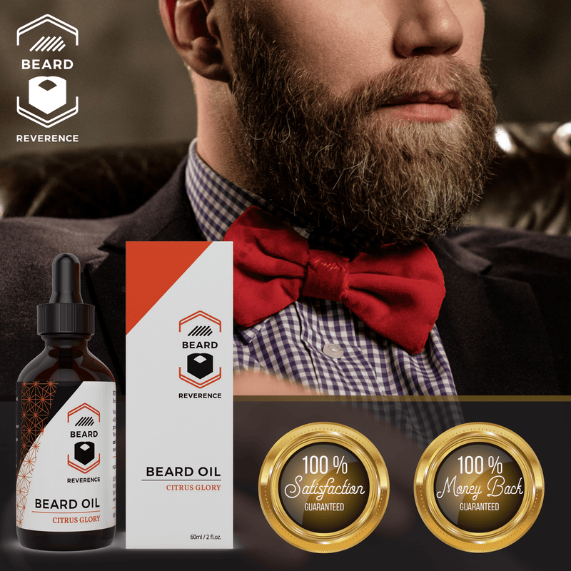 Beard Reverence Citrus Glory Beard Oil 100% satisfaction and 100% money back guarantee.