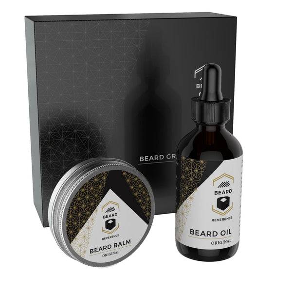 Unscented Beard Oil and Beard Balm Kit by Beard Reverence