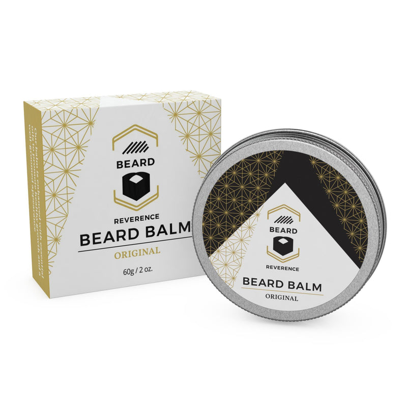 Beard Reverence Original Beard Balm and its box.