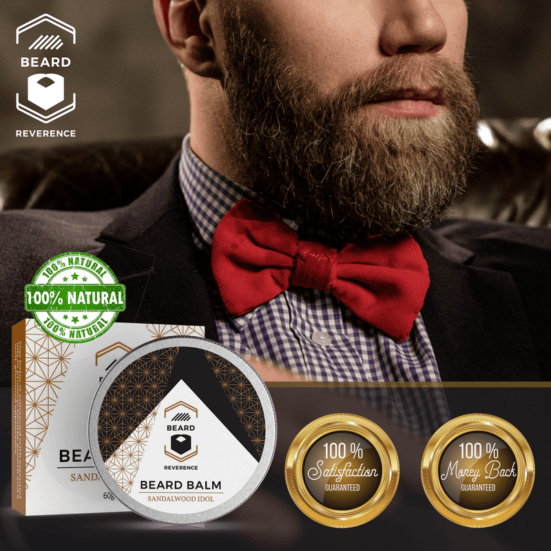 Beard Reverence Sandalwood Idol Beard Balm 100% satisfaction and 100% money back guarantee.