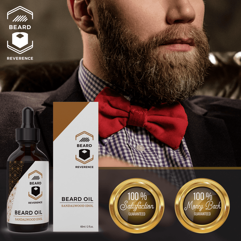 Beard Reverence Sandalwood Idol Beard Oil 100% satisfaction and 100% money back guarantee.