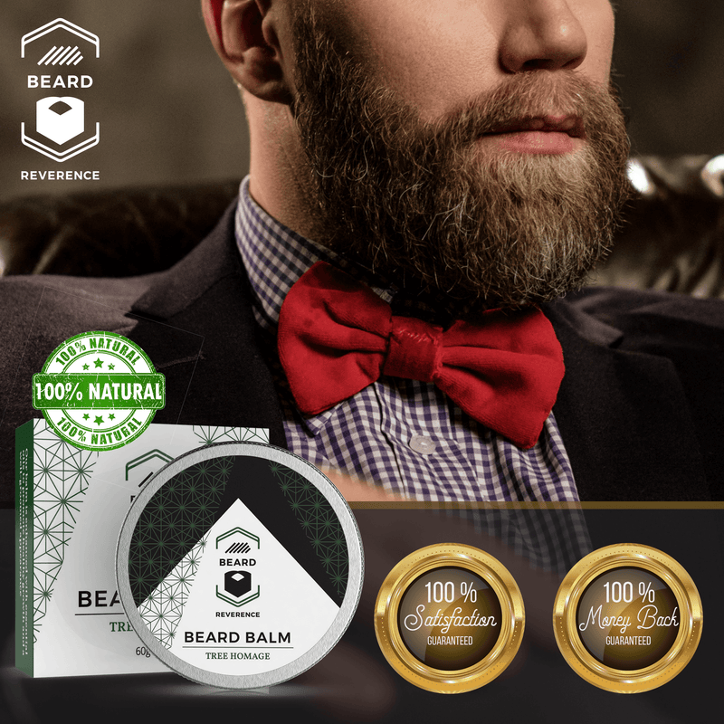 Beard Reverence Tree Homage Beard Balm 100% satisfaction and 100% money back guarantee.
