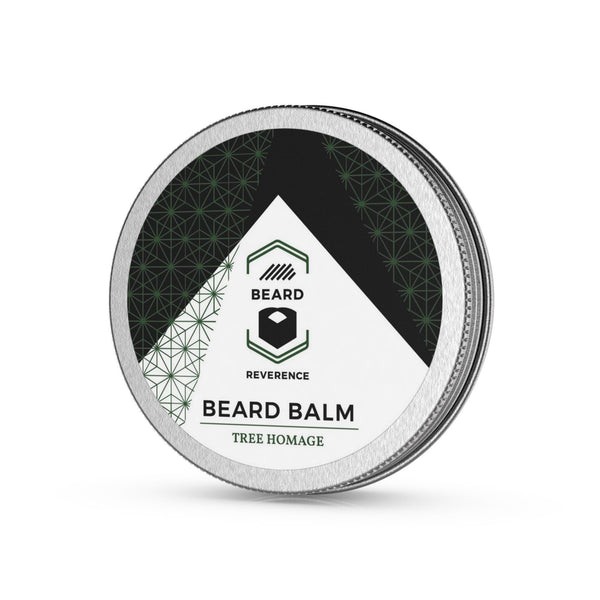 Beard Reverence Tree Homage Beard Balm side angle.