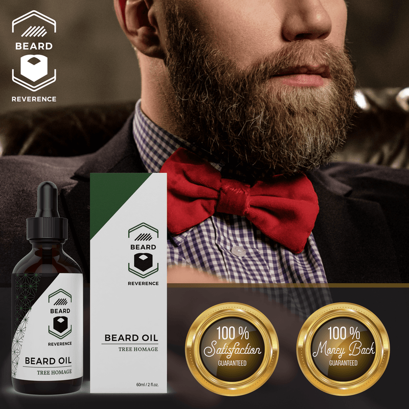 Beard Reverence Tree Homage Beard Oil 100% satisfaction and 100% money back guarantee.