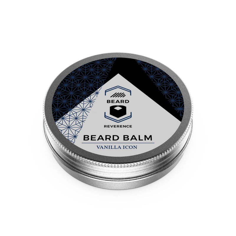 Beard Reverence Vanilla Icon Beard Balm face up.