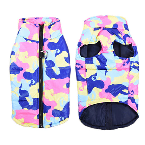 Colorful Camouflage Dog Winter Coat