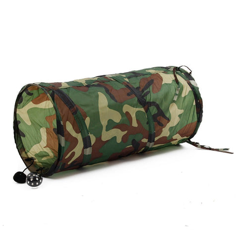 Pet Tunnel With Camouflage Pattern