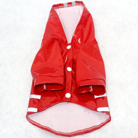 Dog Raincoat With Reflective Stripes
