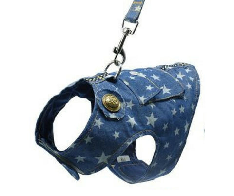 Small Pet Denim Harness