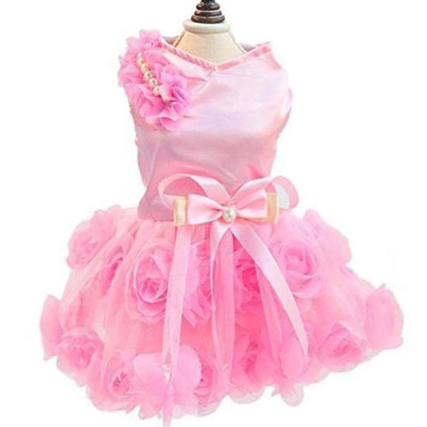 Luxury Roses Wedding Pet Dress