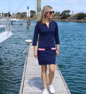 Lissy Clothing - Navy Shift dress