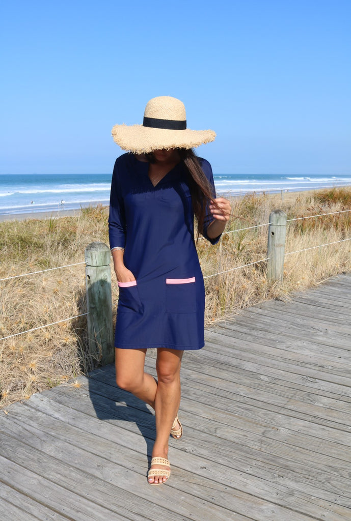 Navy Shift dress - NZ made