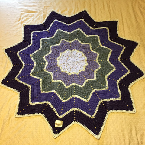 Star Ripple Blanket - Amethyst