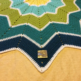 Star Ripple Blanket - Aqua