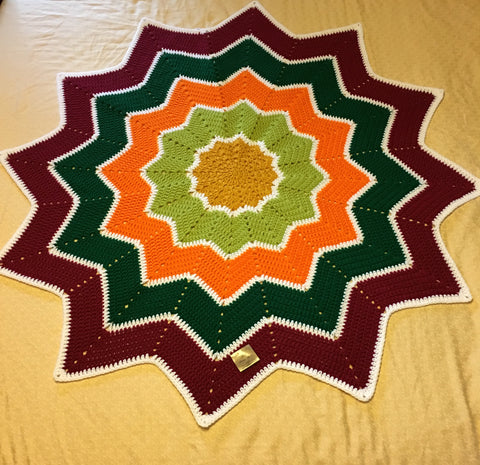 Star Ripple Blanket - Autumn Leaves