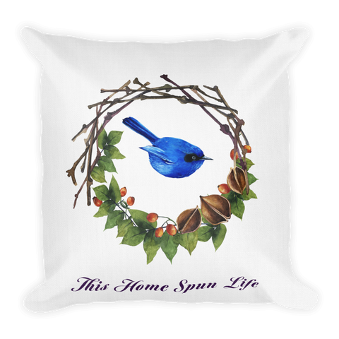 Premium Accent Pillow - Bluebird